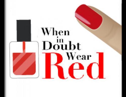 Dúvidas? O vermelho é a cor da manicure